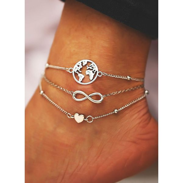 Casual No Stone Geometric Anklet (1905582728)