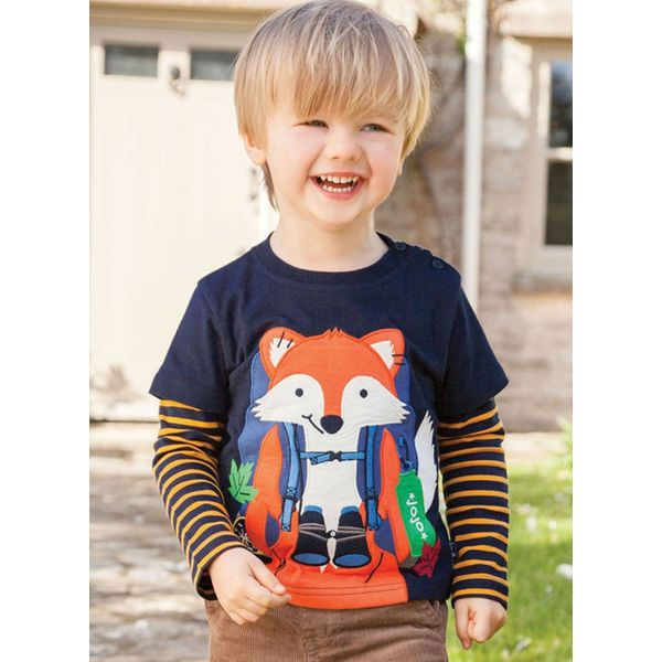 Boys' Cartoon Round Neckline Long Sleeve Tops (30175357489)