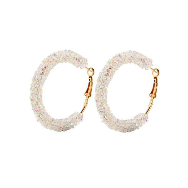 Round No Stone Hoop Earrings (1855424441, Black;blue;white