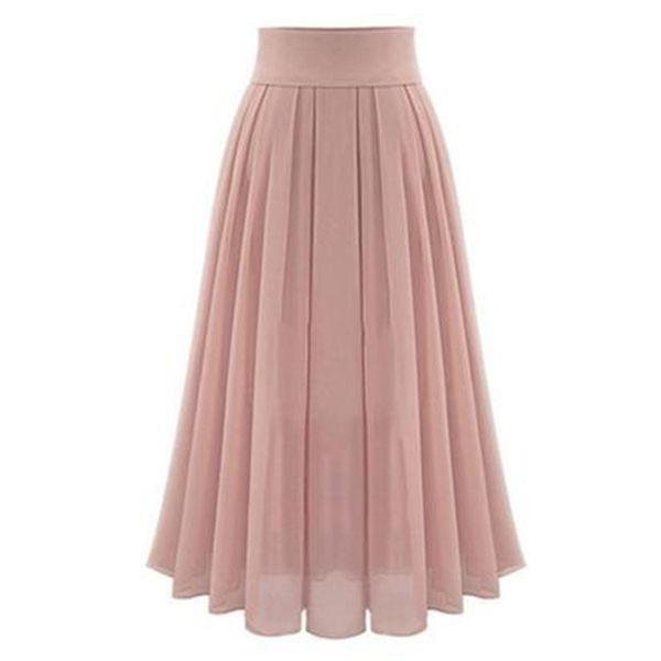 Solid Maxi Casual Skirts (1725560943)