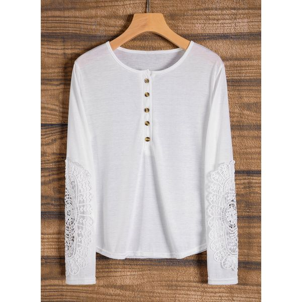 Round Neckline Solid Tight Regular Buttons Sweaters (01675376121) 4