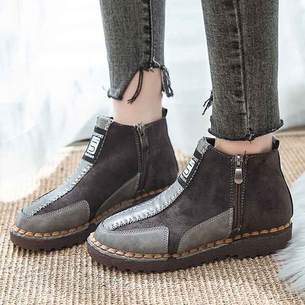 Zipper Ankle Boots Low Heel Shoes (1625355139) 11