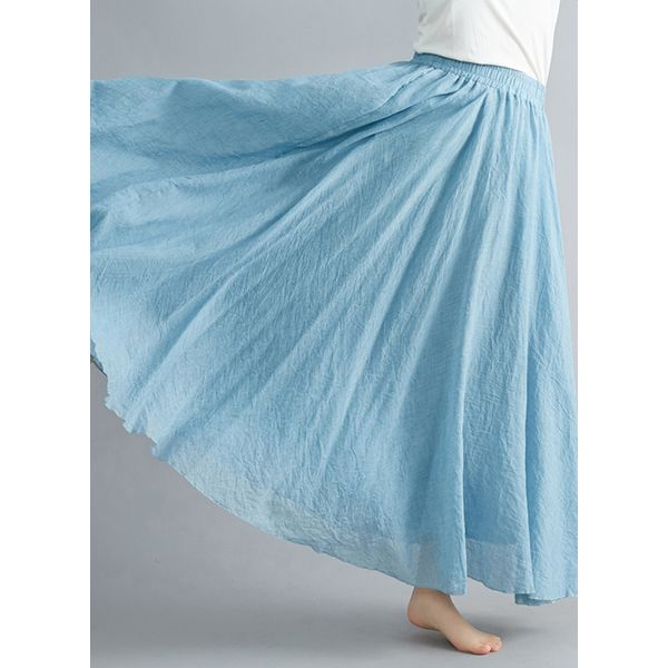 Solid Maxi Casual Skirts (1725442600)