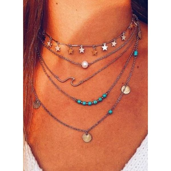 Casual No Stone Without Pendant Necklaces (1845589682)