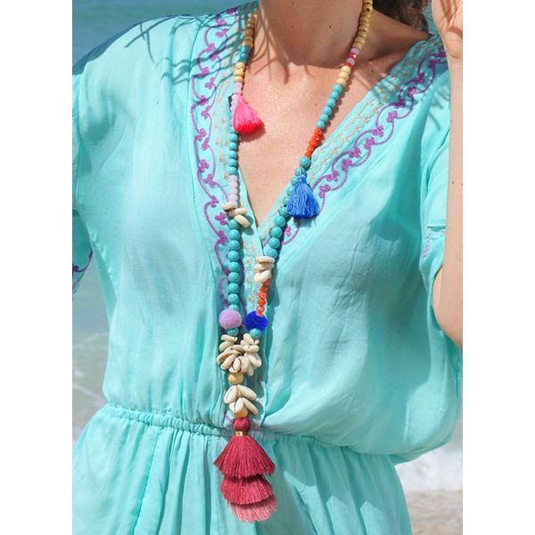 Casual Tassel No Stone Without Pendant Necklaces (1845586317)