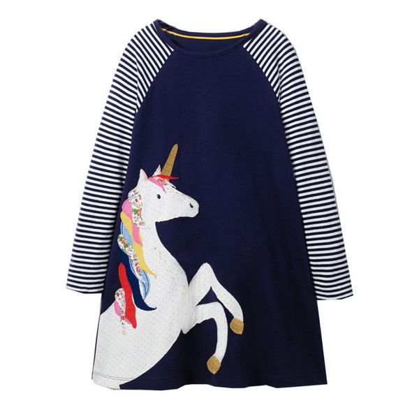 Girls' Casual Animal Daily Long Sleeve Dresses (30135348944) 9