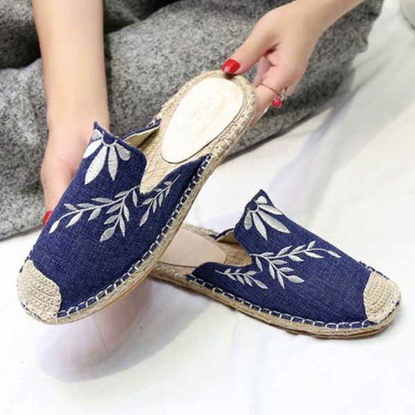 Knit Slingbacks Flat Heel Shoes (1625381406) 2