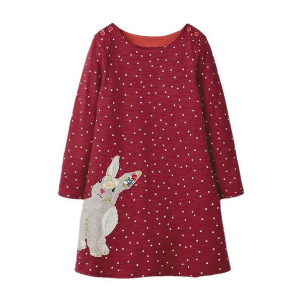 Girls' Casual Animal Daily Long Sleeve Dresses (30135342257) 5