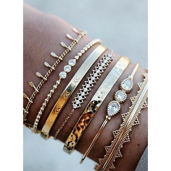 Casual Ball Water Drop Round Crystal Bangle Bracelets (1865591405)