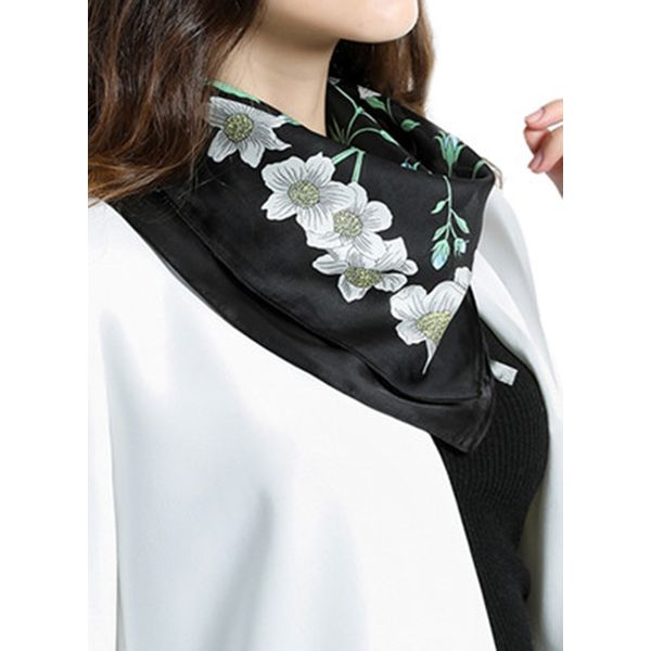 Casual Floral Scarves (1775417945, Black;white;purple;yellow;gray;watermelon;pink;dark gray;light blue