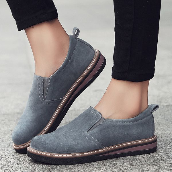 Closed Toe Flat Heel Shoes (1625359593)