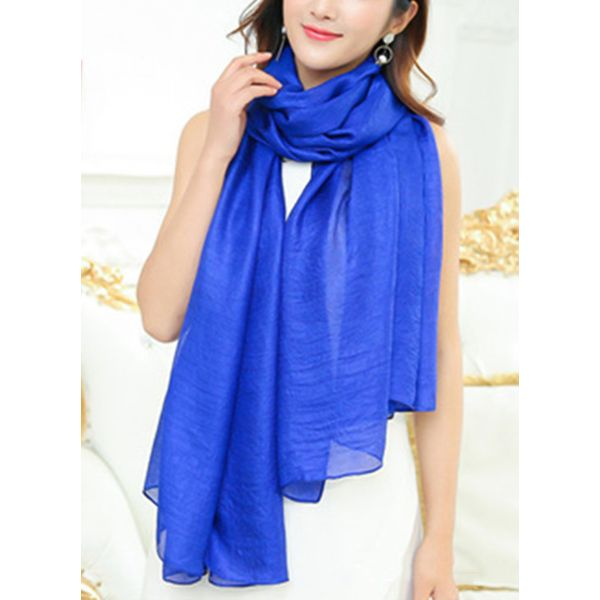 Casual Solid Scarves (1775383249, Black;red;green;purple;yellow;burgundy;dark blue;royal blue