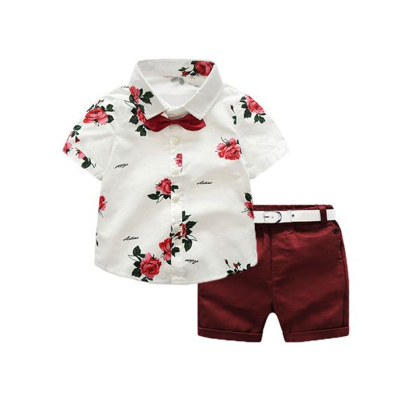 Boys' Floral Going out Short Sleeve Clothing Sets (30165285410) 3