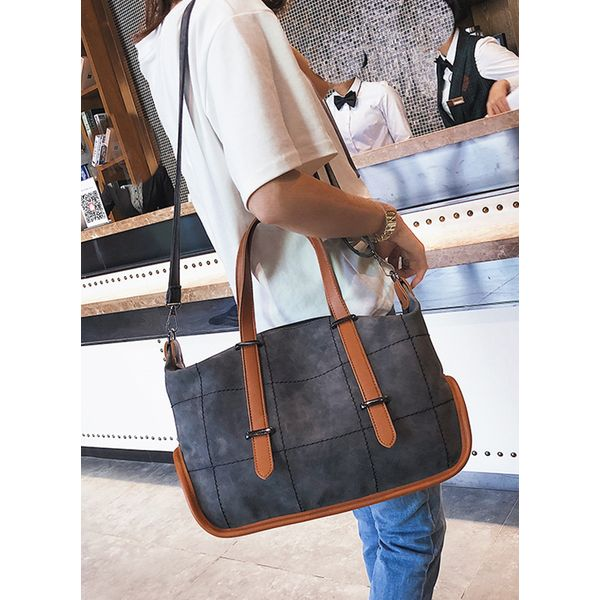 Tote Vintage Zipper Double Handle Bags (1825379118) 5