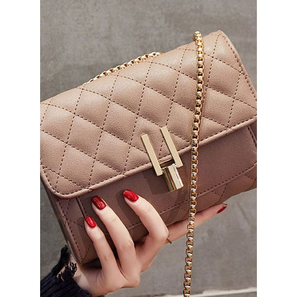 Shoulder Fashion Studded Chain Bags (1825415851, Black;pink;military green