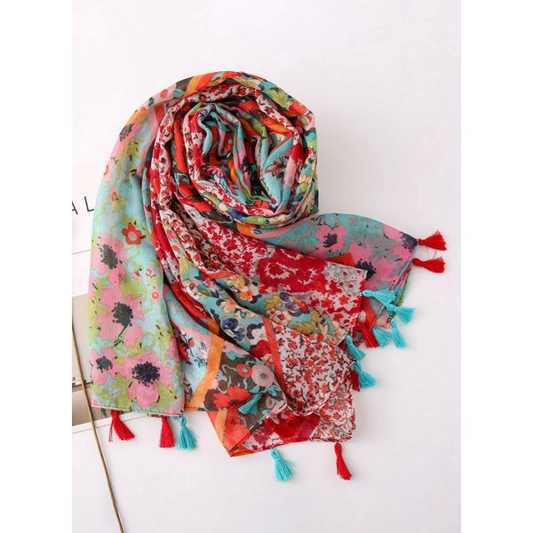 Casual Floral Scarves (1775556703)