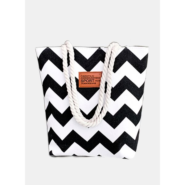 Tote Color Block Double Handle Bags (1825586113)