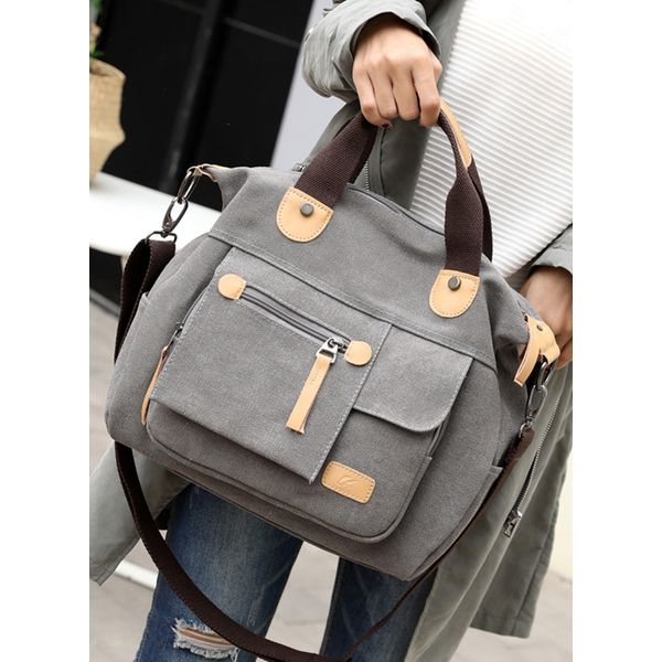 Shoulder Fashion Zipper Double Handle Bags (1825358012) 4