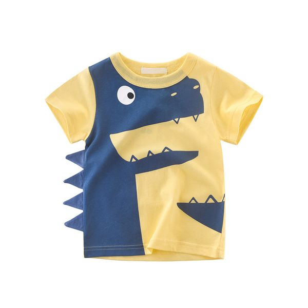 Boys' Animal Round Neckline Short Sleeve Tops (30175380674) 1