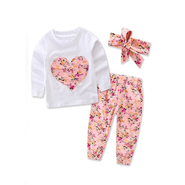 Girls' Cute Floral Daily Long Sleeve Clothing Sets (30145284543) 3