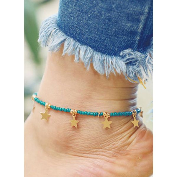 Casual No Stone Geometric Anklet (1905582784)