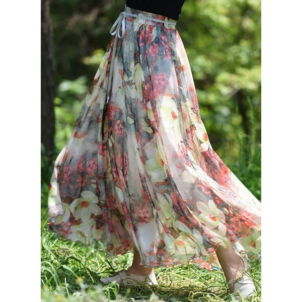 Floral Maxi Casual Skirts (1725377274) 6