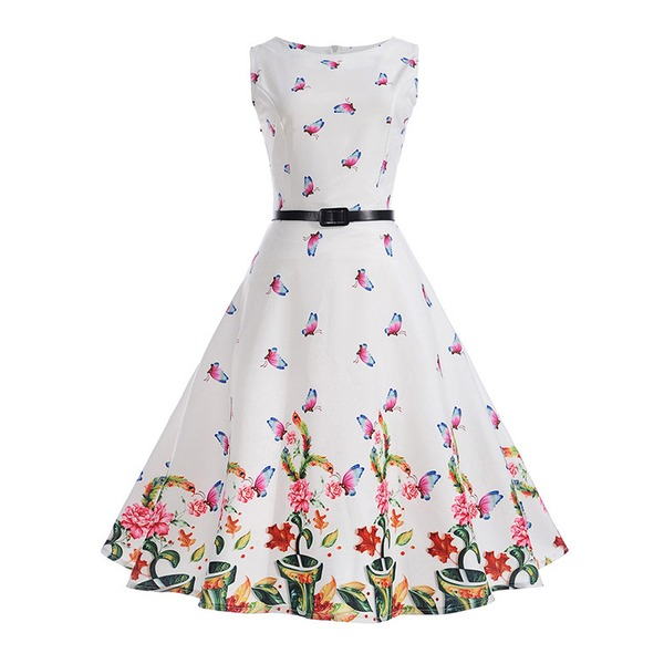 Girls' Floral Party Sleeveless Dresses (30135322401) 11