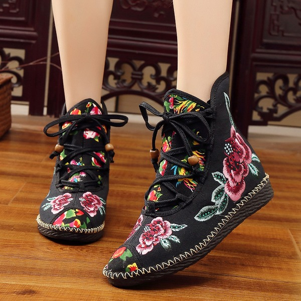 Lace-up High Top Flat Heel Shoes (1625329863) 6