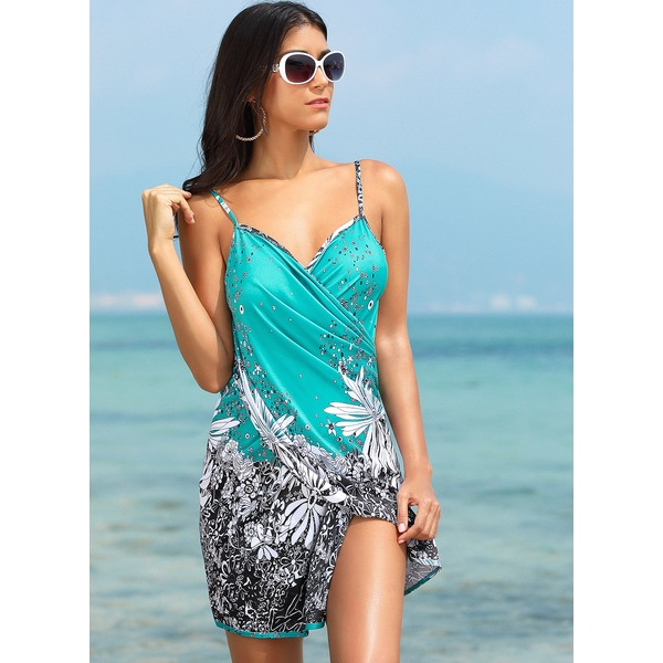 Halter Flowers Cover-Ups Swimwear (30015264410) 7
