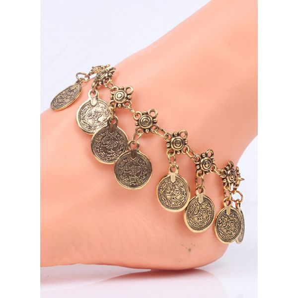 Casual No Stone Round Anklet (1905582078)