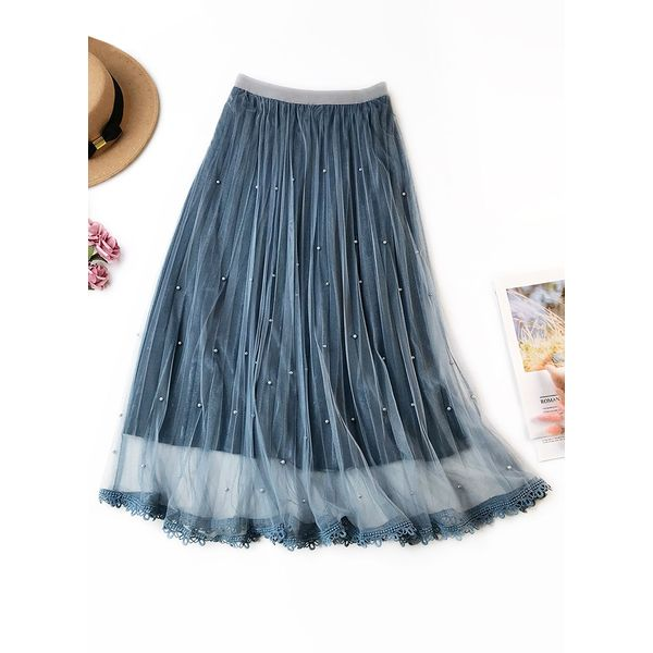 Solid Mid-Calf Casual Skirts (1725381533) 4
