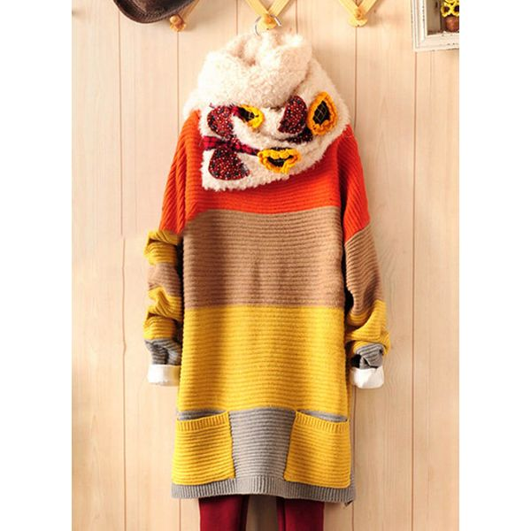 Image of Andere Farbquadrat Large Lang Shift Pullover