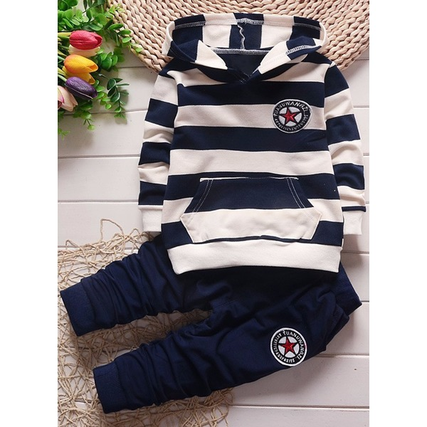 Boys' Color Block Daily Long Sleeve Clothing Sets (30165297566) 1