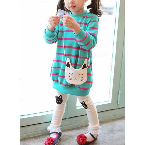 Girls' Cute Stripe Going out Long Sleeve Clothing Sets (30145329566) 6