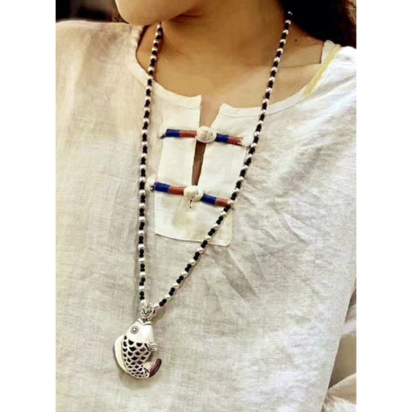 Casual Animal Pearls Pendant Necklaces (1845565899)