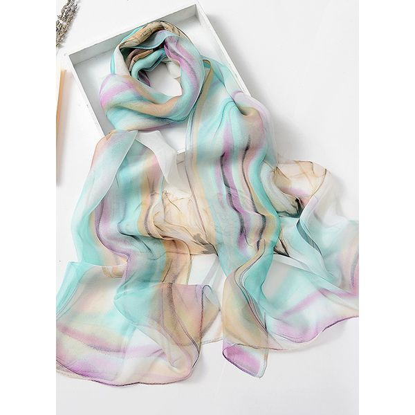 Casual Floral Scarves (1775343116, Green