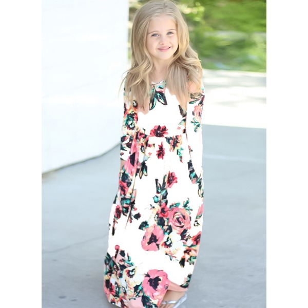 Girls' Casual Floral Holiday Long Sleeve Dresses (30135329435) 3