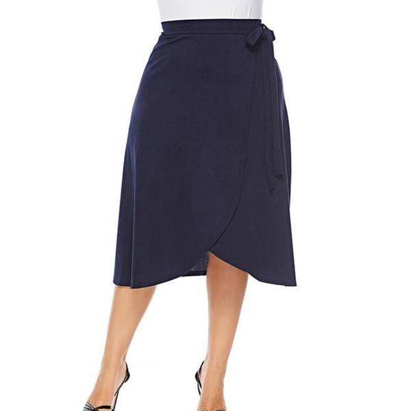 Solid Mid-Calf Casual Skirts (1725377283) 7
