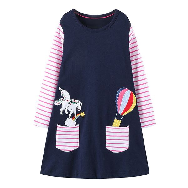 Girls' Casual Animal School Long Sleeve Dresses (30135363155) 2
