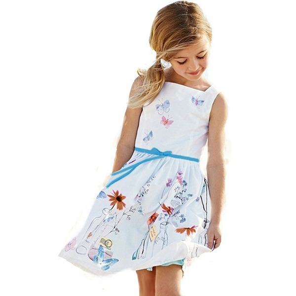 Girls' Graphic Daily Sleeveless Dresses (30135284950) 1