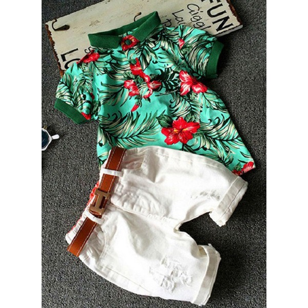 Boys' Floral Daily Short Sleeve Clothing Sets (30165285446) 2