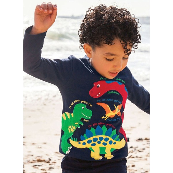 Boys' Animal Round Neckline Long Sleeve Tops (30175332437) 9