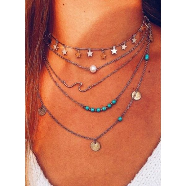 Casual No Stone Without Pendant Necklaces (1845589675)
