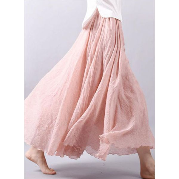 Solid Maxi Casual None Skirts (1725339811) 3