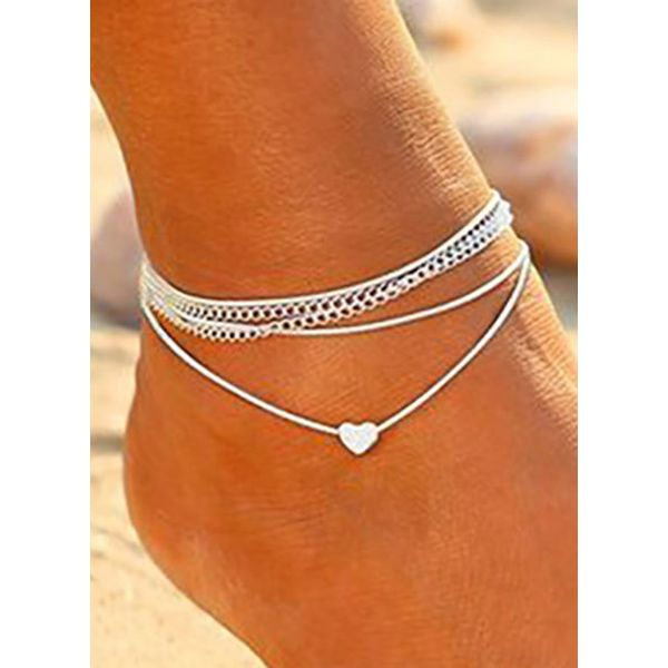 Casual No Stone Heart Anklet (1905569552)