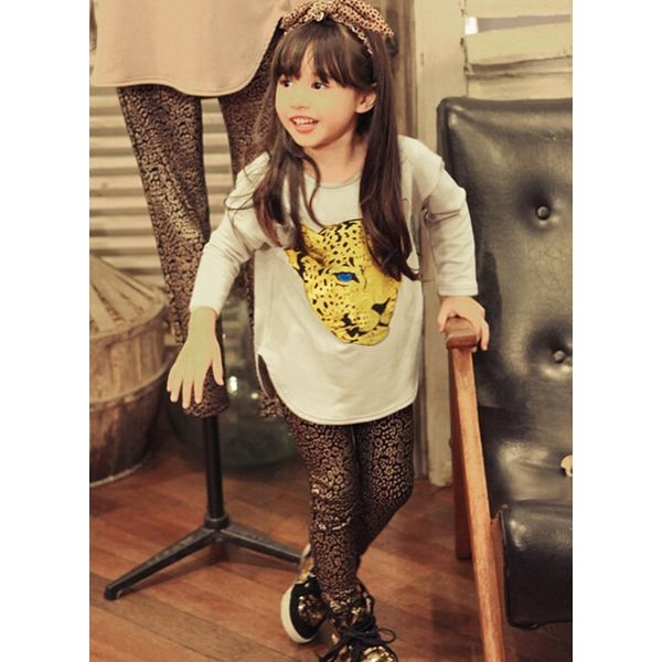 Girls' Casual Leopard Daily Long Sleeve Clothing Sets (30145327838) 6