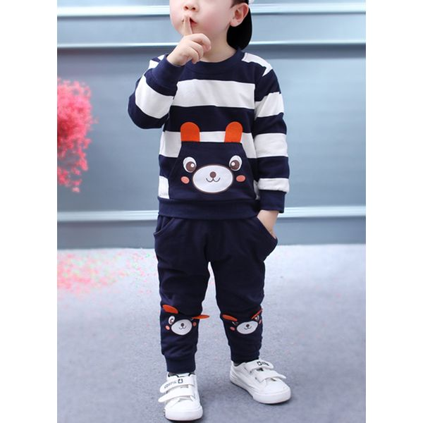 Boys' Cute Cartoon Going out Long Sleeve Clothing Sets (30165360684) 6