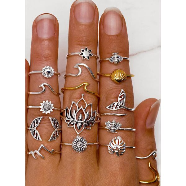 Floral No Stone Rings (1875565837)