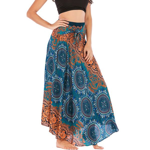 Floral Maxi Casual Sashes Skirts (1725381539) 12
