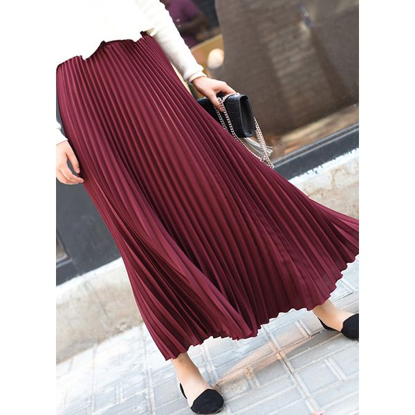 Solid Maxi Casual Skirts (1725381542) 10